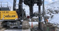 Keller performs its first O-pile project in Canada