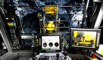 Designed to drill opening holes in block cave, sub-level caving and sub-level stoping mines, Epiroc's Easer L raise boring rig can also be used for precondition holes, pastefill tube holes and media holes