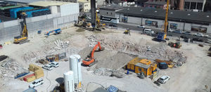 Bauer's specialist foundation work for Munich's KARL complex